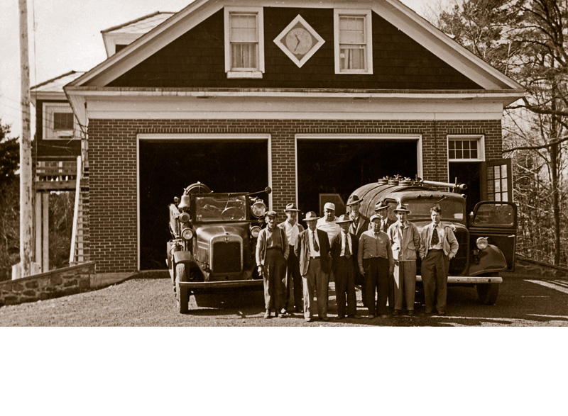Tobyhanna Township Volunteer Fire Company, April 14, 1946. Today it is the location of the Clymer Library located on Firehouse Road in Pocono Pines.