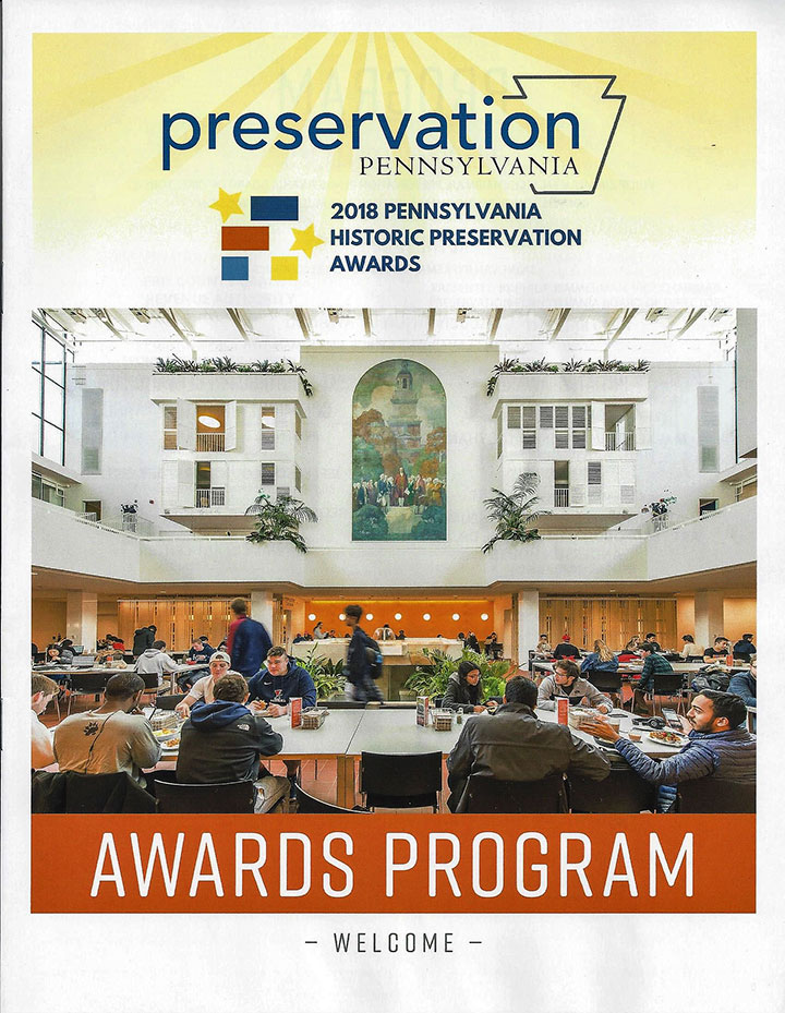 Cover of the 2018 Preservation Pennsylvania Awards Program