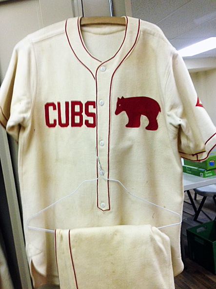 Baseball uniform of the local Cubs team