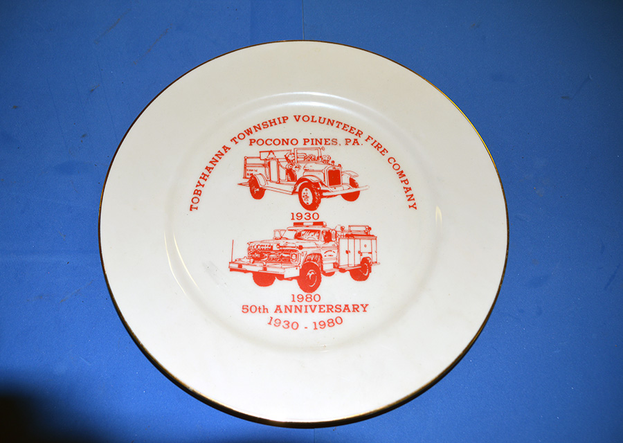 50th Anniversary commemorative plate for Tobyhanna Township Volunteer Fire Company, 1930-1980