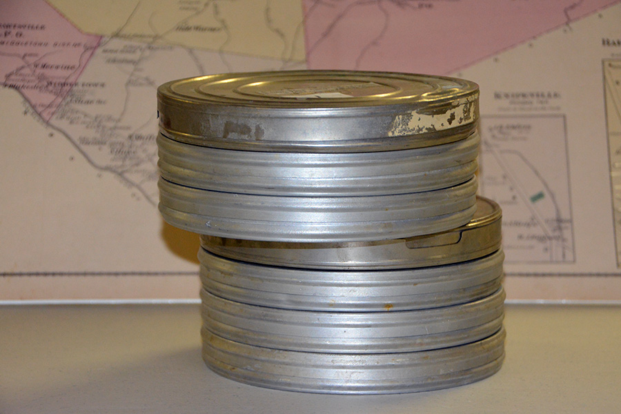 16mm movie reels from Lutherland