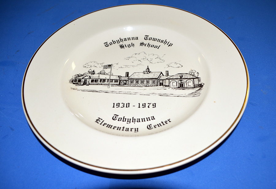 Commemorative plate for Tobyhanna Township High School and Elementary Center, 1930-1979