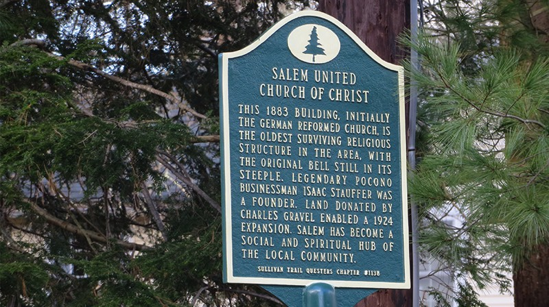 The Salem United Church of Christ historical marker. (Bob Baechtold Photo)